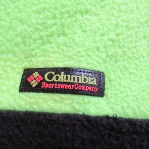 Columbia Jackets & Coats - Vtg Columbia Neon/Black Color Block Fleece Jacket